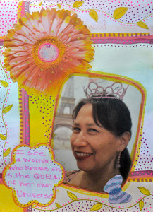 art journaling queen of my universe collage 217x300 Brene Browns The Gifts of Imperfection