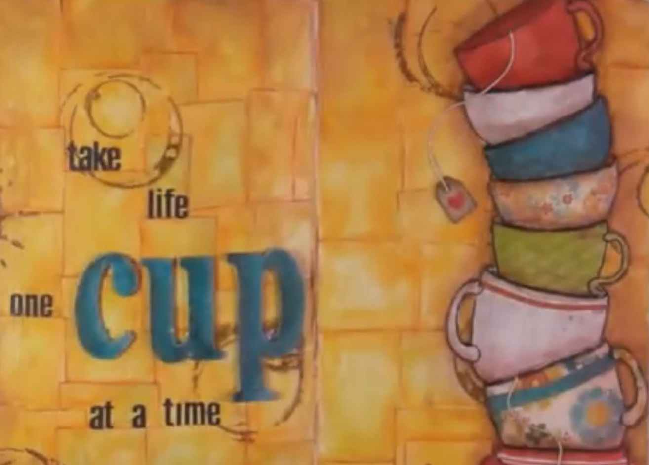 Art Journaling Video By Vicky Papaioannou Collage Castle