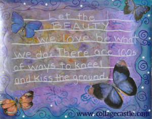 butterfly blu sm 300x235 Art Journaling Rumi Quote