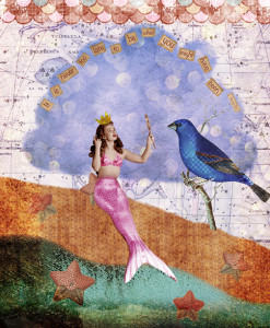 Vintage Mermaid by Cat Whipple 247x300 One Hour Art Challenge 1