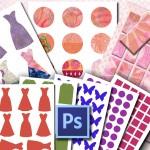 Make Digital Collage Sheets with Photoshop Kit