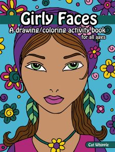 Cover front small 1 227x300 Girly Faces Drawing Coloring Book Now Available